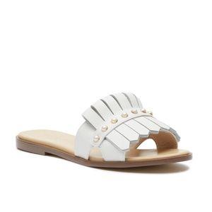 Kate Spade Women's White Stasie Sandal